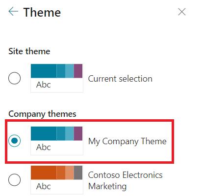 Apply Custom Theme